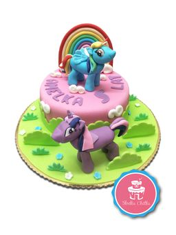 Tort kucyki Pony - Tort z Rainbow Dash i Twilight Sparkle