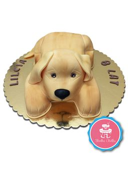Tort golden retriever - Tort 3D w kształcie psa rasy golden retriever
